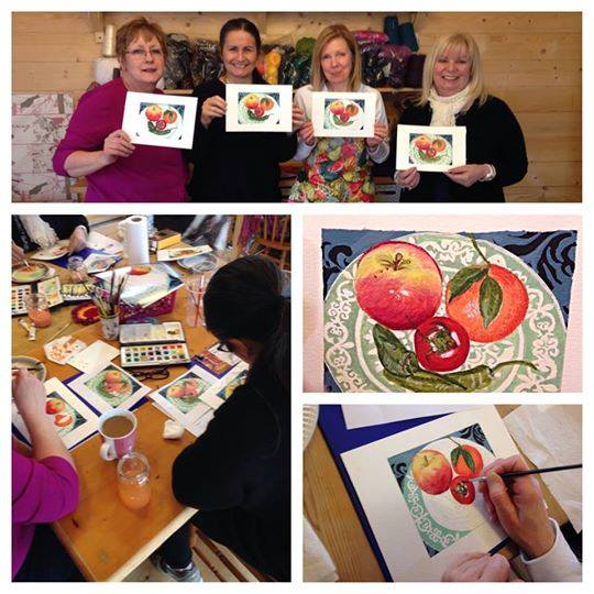 Watercolour Painting Workshop at Acorn Glade
